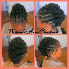 Photo by natural_hair_creations locs updo