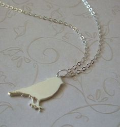 Raven Silhouette Necklace / Graduation Necklace / Bird Jewelry / Crow Necklace / Goth Jewelry via Etsy