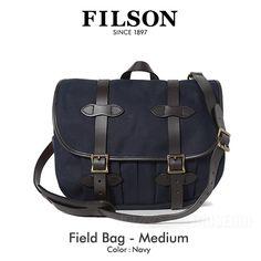 【楽天市場】フィルソン FILSON フィールドバッグ Mサイズ Field Bag Medium NAVY 70232【送料無料】:Mike Museum