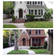 Curb appeal- before and after