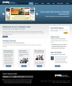 Growing Business XHTML Template - 6424 - Business - Website Templates - DreamTemplate