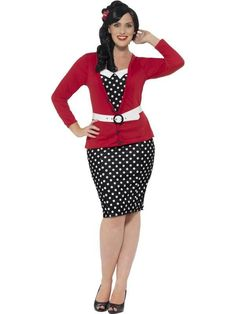 Women's Plus Size Curves 1950s Pin Up Costume