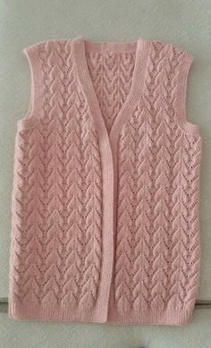 Image Article – Page 444026844512742618 Baby Knitting Patterns, Crochet Vest Pattern, Cardigan Pattern, Knitting Stitches, Knitting Designs, Knit Crochet, Embroidery Patterns, Hand Embroidery, Easy Knitting