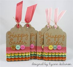 Set of Four Easter Gift Tags by FreshSqueezedPapers, $4.00