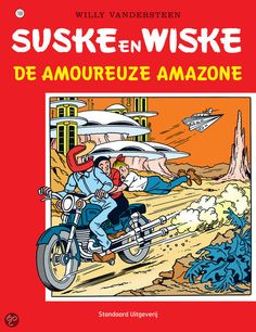 Suske en Wiske: De Amoureuze Amazone (169). Tante Sidonia is in een sloot gereden nadat ze boodschappen heeft gedaan en Jerom haalt haar en de wagen op. Lambik veroorzaakt een ontploffing in de garage als hij een goedkoop mengsel wil maken wat de dure benzine kan vervangen. Tante Sidonia stuurt hem weg en Suske en Wiske hebben medelijden met hem en waarschuwen professor Barabas. Professor Barabas gaat naar Lambik en hoort dat het is gelukt de motor op nieuwe brandstof te laten rijden.