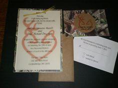 Camo Wedding  Doe and Deer Invitation KIT by ernigirldesigns, $2.50