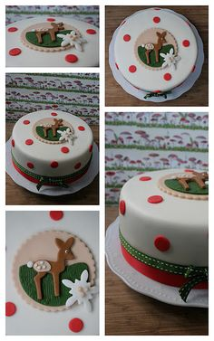Winterwald-Fondanttorte Christmas Cake Topper, Christmas Cakes, Holiday Cakes, Christmas Goodies, Christmas Treats, Xmas Cakes, Pretty Cakes, Beautiful Cakes, Amazing Cakes