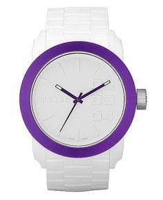 Diesel Watch, White Textured Silicone Bracelet