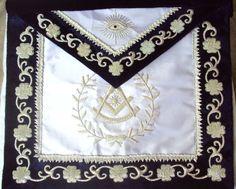Hand Embroided Masonic Past Master Apron Dax 07 New Edition   eBay