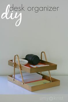 how to make desk organizer from a hanger and two frames
