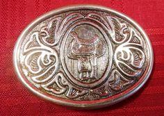 Silver Police Officer Badge Screw Back Concho Western Horse Saddle Hat Belt Gift