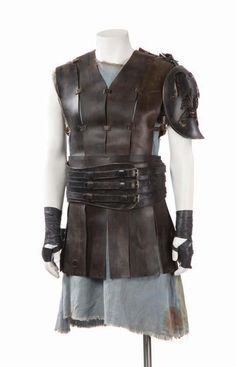 """Costume for """"Maximus"""" (as worn by Russell Crowe) 'Gladiator' 2000. Costume designed by Janty Yates."""