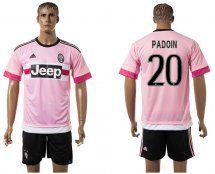 2015-2016 Juventus #20 PADOIN Pink Away