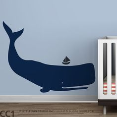 Would love for August's room above the crib.   ~ Whale Wall Sticker Baby Zoo by LeoLittleLion on Etsy, $44.00