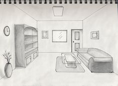 Living Room Drawings one point perspective drawing living room - google search