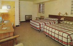 vintage motel room