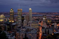Montreal, Quebec, Canada The view from Mont Royal