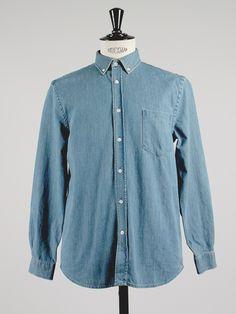 Shirt 3 in indigo blue denim by MONOKROM by APLACE