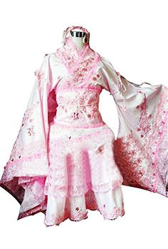 Hetalia Taiwan Cosplay Costume Pink and White Dress Female M * Be sure to check out this awesome product.