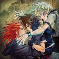 This picture almost made me cry.. I swear if they don't let axel and roxas meet again I'm going to flip. And I hate how people call this yaoi, no axel wants roxas back his could care less about sora.