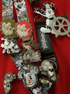Disney pins and lanyard