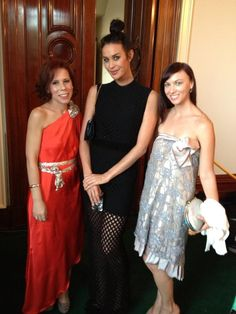 L'OREAL PARIS AMBASSADOR MEGAN GALE AT GOVERNMENT HOUSE  Lucy Laurita and Sara Lavigne Pictured with Megan Gale.
