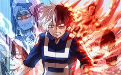 Hämta bilder Shoto Todoroki, 4k, manga, Boku no Hero Academy