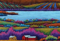 "Detail of ""Lake Champlain,"" pastel by Daryl Storrs. PC: Sally MacKay - COURTESY OF VERMONT HISTORICAL SOCIETY"
