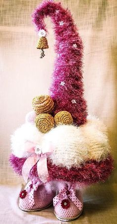 Excited to share the latest addition to my shop: Crochet Christmas Tree Gnome, crochet Christmas Tree with legs, crochet Christmas Tree gnome pattern Half Double Crochet, Single Crochet, Crochet Patterns Amigurumi, Crochet Toys, Crochet Fairy, Crochet Christmas Trees, Basic Crochet Stitches, Sprites, Yarn Needle