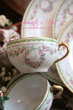 Limoges Teacup! I found the plate that matches this at a thrift store!!!! Alas, not the cup and saucer though.
