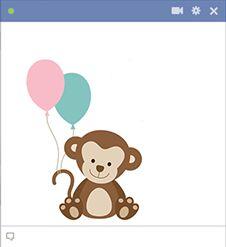 Mono con globos