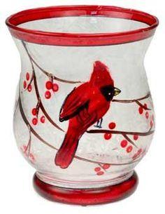 Mini Hurricane Cardinal Votive Holder
