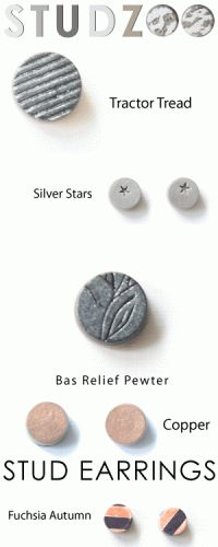 Metallic Stud Earrings! $7 Surgical Steel!