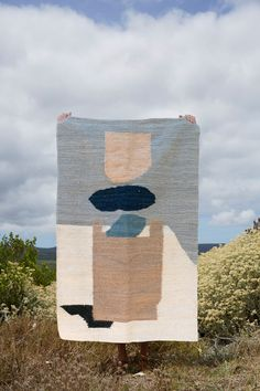 Karu's hand woven mohair rugs are contemporary in design and made to order within a local and ethical South African supply chain. African Rugs, African Interior, Deco Boheme, Textiles, Simple Shapes, Abstract Landscape, Abstract Art, Textile Art, Fiber Art