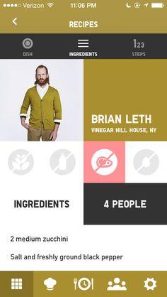 Idée présentation recette + profil (footer)