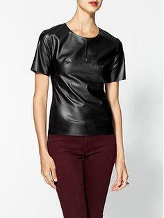 Leather - BCBGMAXAZRIA Faux Leather Tee $148.00