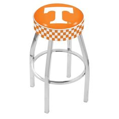 Tennessee Volunteers Chrome Base Swivel Bar Stool