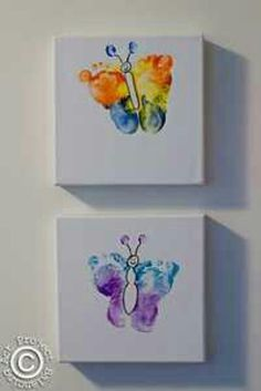 Butterfly Footprints, so so cute! Butterfly Footprints, so so cute! Kids Crafts, Family Crafts, Baby Crafts, Cute Crafts, Crafts To Do, Projects For Kids, Arts And Crafts, Crafts With Babies, School Projects