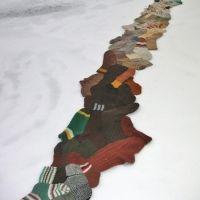 Anu Tuominen: Polku / Path, 2008 (found socks)