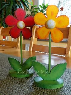 Wood Craft for Spring - Flowers Decoration