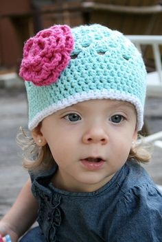 Free Pattern: Open Weave Beanie~ this made a super cute and easy hat! @doramena