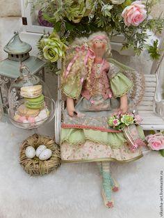 Фея Фелиция.Новая коллекция! - коралловый,грязно-розовый,бледно-зеленый