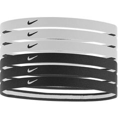 Nike 6-pk. Logo Sport Stretch Headbands (Black) (£6.52) ❤ liked on Polyvore featuring accessories, hair accessories, black, hair, jewelry, hair band headband, nike, sports headbands, head wrap hair accessories and black headwrap