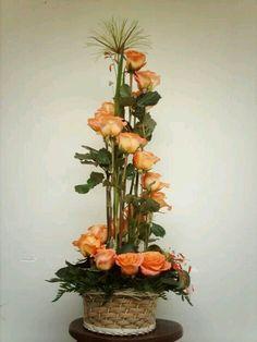 Selecting The Flower Arrangement For Church Weddings – Bridezilla Flowers Altar Flowers, Church Flower Arrangements, Silk Flower Arrangements, Silk Flowers, Modern Floral Arrangements, Floral Centerpieces, Deco Floral, Arte Floral, Ikebana Flower Arrangement