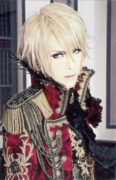 "Kamijo, lead singer of 'Versailles'. (Known as 'Versailles - Philharmonic Quintet' - in the United States). They are a Japanese visual kei metal band formed in 2007. I want to call him ""Senpai!!"" <3"