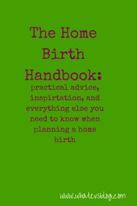 I'm writing book on home birth. It will be a resource for families planning a home birth, and will include facts as well as personal stories from moms, midwives, partners, and doulas.