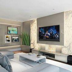 Tv Wall Design, House Design, Basement House, Home Cinemas, Interior S, Home Bedroom, House Plans, Mansions, Tv Walls