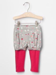 Pleated crawler short leggings | Gap