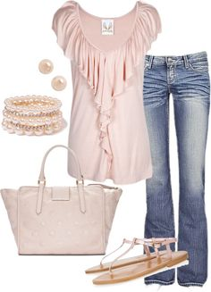 A fashion look from January 2013 featuring BKE jeans, K. Jacques sandals and Marc by Marc Jacobs tote bags. Browse and shop related looks. Cute Fashion, Fashion Outfits, Womens Fashion, Spring Summer Fashion, Spring Outfits, Summer 2015, Pretty In Pink, Perfect Pink, Look Rose