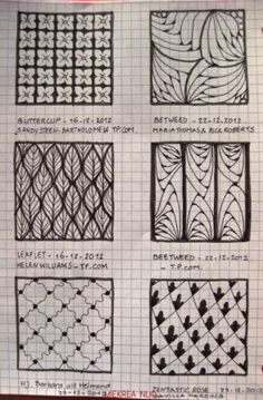 7 Patterns drawn by Miekrea NL - designed by Others